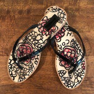 Coach Poppy Floral Graffiti Sandals